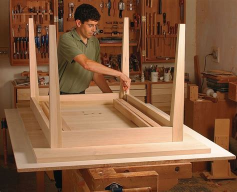 Fine Free Woodworking Kitchen Table Plans