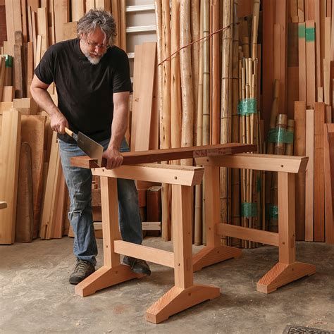 Fine-Woodworking-Japanese-Sawhorse