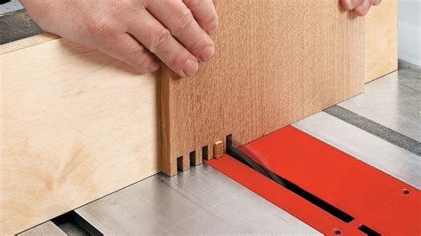 Finger Joints Woodworking On Table Saw