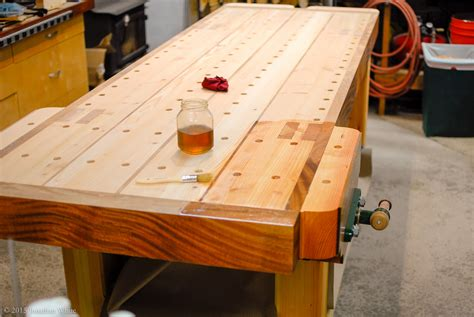 Finish-On-Woodworking-Bench