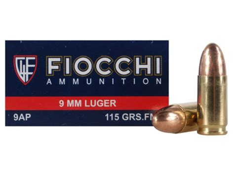 Fiocchi Shooting Dynamics 9mm Luger 115 Grain Fmj.