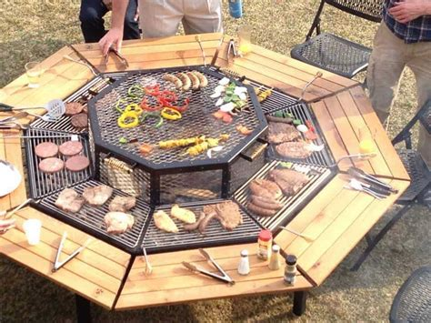 Fire Pit Grill Table Diy