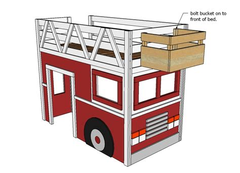 Fire Truck Bunk Bed Plans