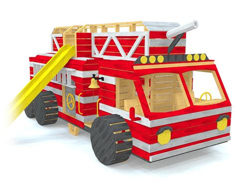 Fire-Engine-Playhouse-Plans