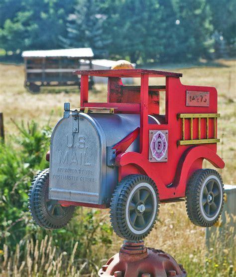 Fire-Truck-Mailbox-Plans