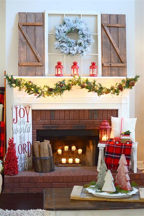Fireplace Mantel Christmas Decorations Ideas Diy