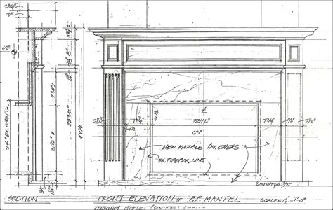 Fireplace Mantel Plans Drawings Pdf
