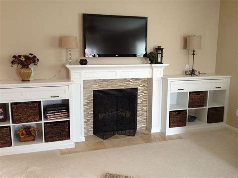 Fireplace-Mantel-And-Bookshelves-Plans