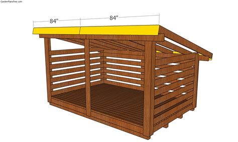 Firewood shed plans free Image