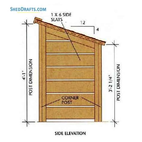 Firewood-Lean-To-Shed-Plans