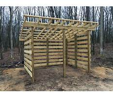 Best Firewood shed plans free