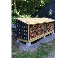 Best Firewood storage shed diy