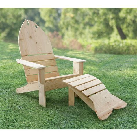 Fish Adirondack Chair And Ottoman