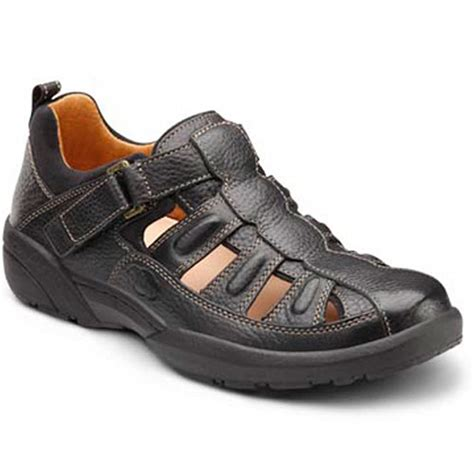 Fisherman Men's Therapeutic Diabetic Extra Depth Sandal leather velcro