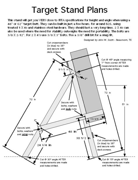 Fita Archery Target Stand Plans