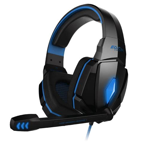 Fityle 3.5mm Gaming Earphone Headphone Headset Headband with Mic for PC Computer
