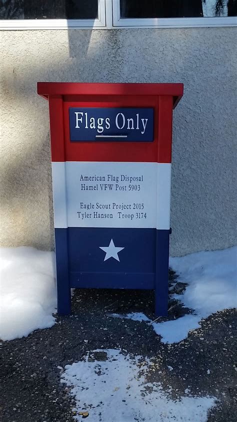 Flag Disposal Box Plans