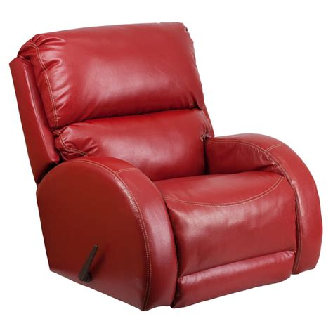 Flash Furniture Red Leather Rocker Recliner