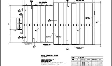 Flat Roof Framing Plan
