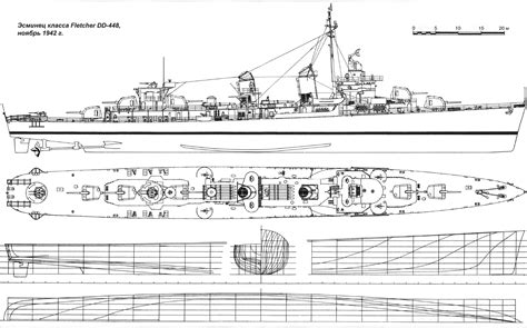 Fletcher Class Destroyer Drawings And Plans