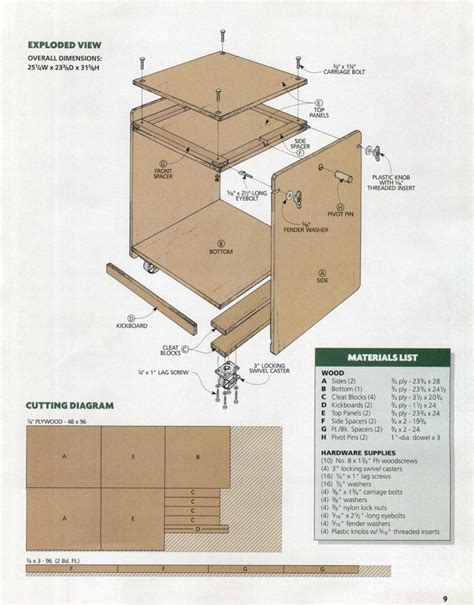 Flip Top Tool Stand Free Plans