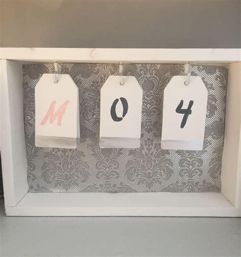 Flip-Calendar-Diy