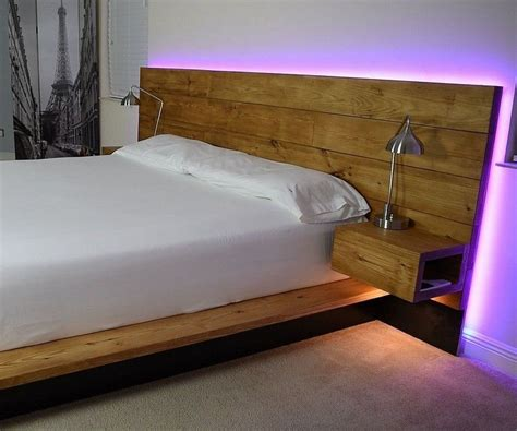 Floating Bed With Lights Diy Projects