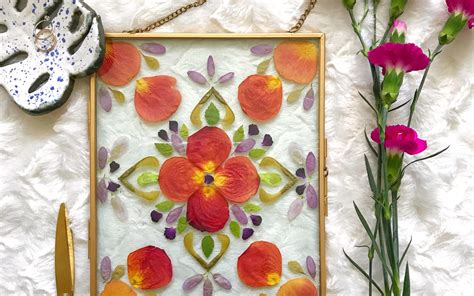 Floating Frame Flowers Diy Drawing
