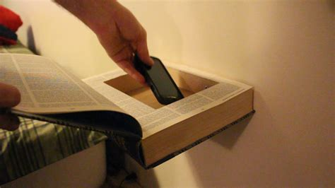 Floating Shelf With Secret Compartment Book
