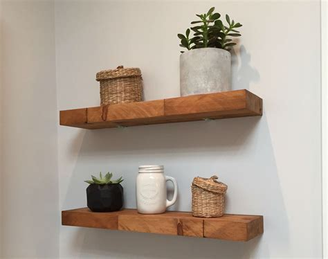 Floating Wood Block Shelves Diy Railroad