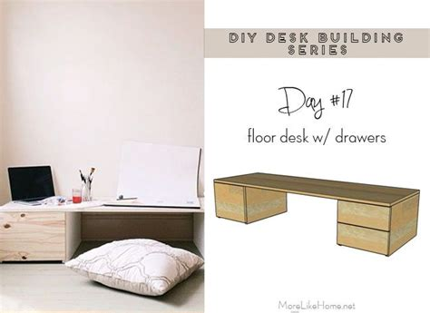 Floor Desk Diy Organization