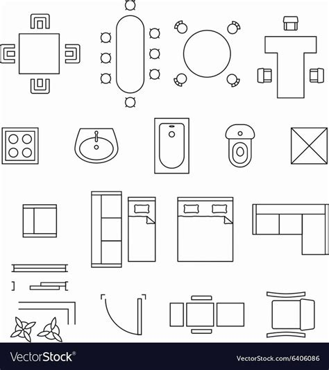 Floor Plan Furniture Symbols