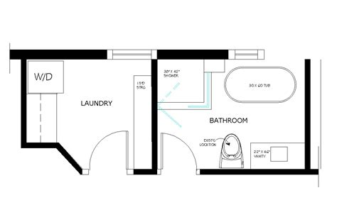 Floor Plans For Bathroom With Laundry Room