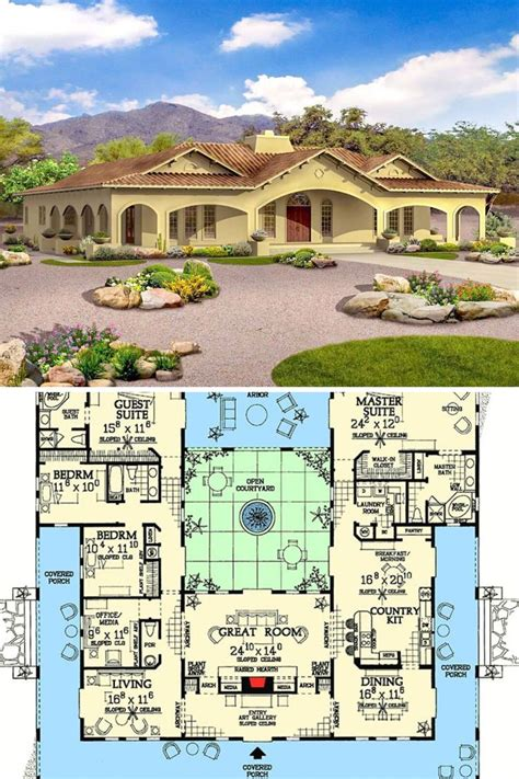 Floor Plans With Courtyard