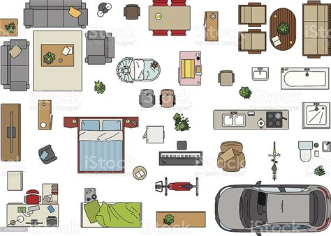 Floor-Plan-Clipart-Furniture