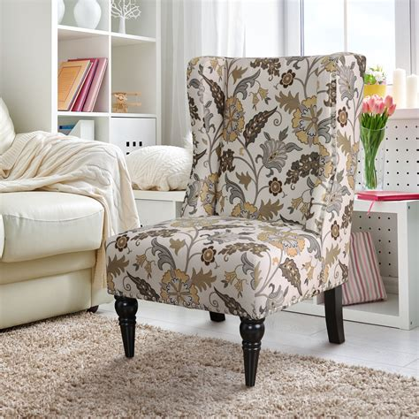 Floral Fabric Accent Chairs