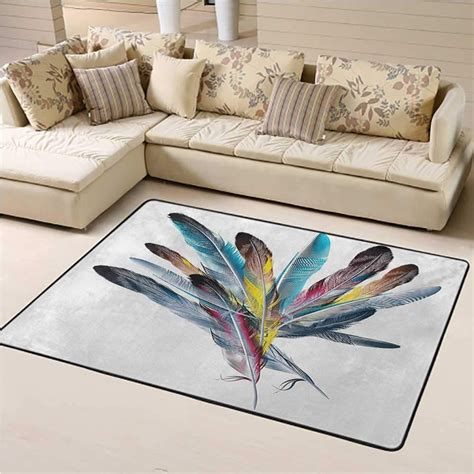 Floral Inspirational Bouquet Feather Bath Rug
