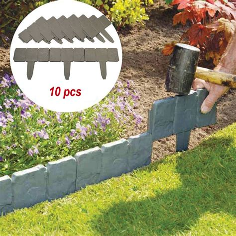 Flower Bed Borders In Gray