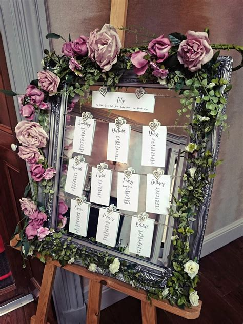 Flower Mirror Table Plan