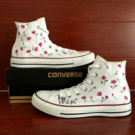 Flowered Converse Sneakers