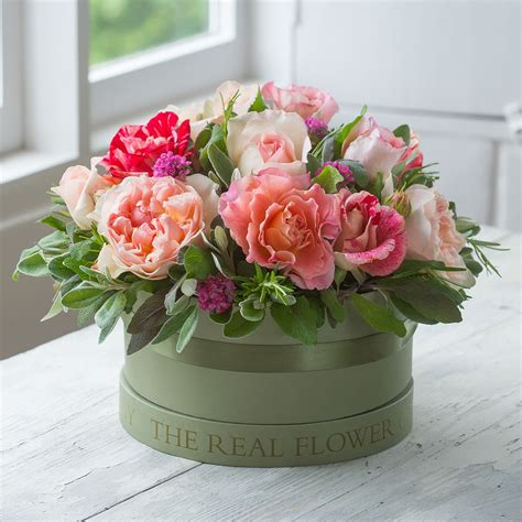 Flowers In Hat Box