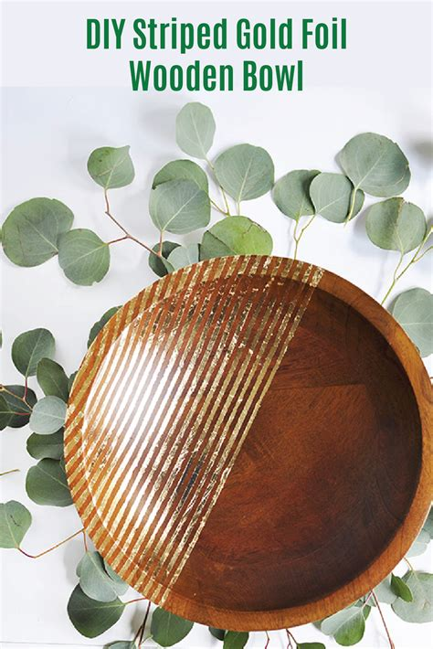 Foil For Striped Wood Diy Small