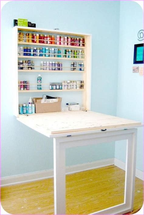 Fold Down Craft Table Diy Plans