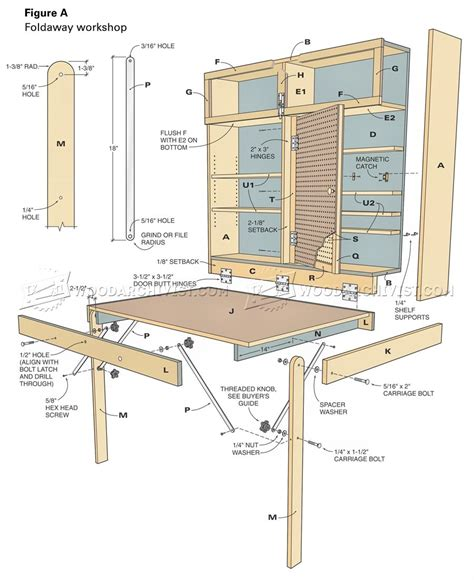 Fold Down Workbench Plans Free