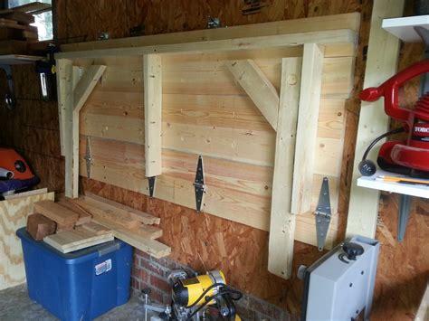 Fold-Down-Garage-Workbench-Plans