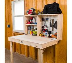 Best Fold up workbench on garage wall