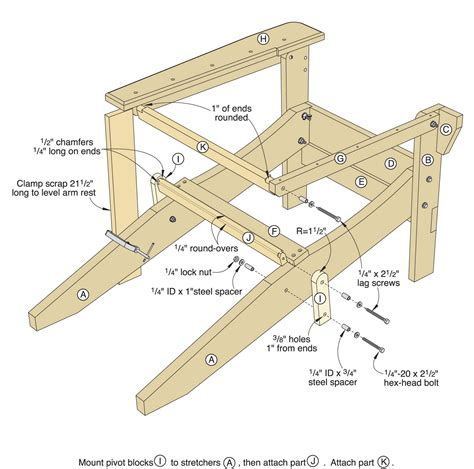 Folding Adirondack Chair Plans Templates Free