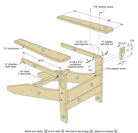 Folding Adirondack Chairs Building Plans