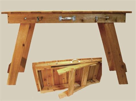 Folding Craft Table Plans