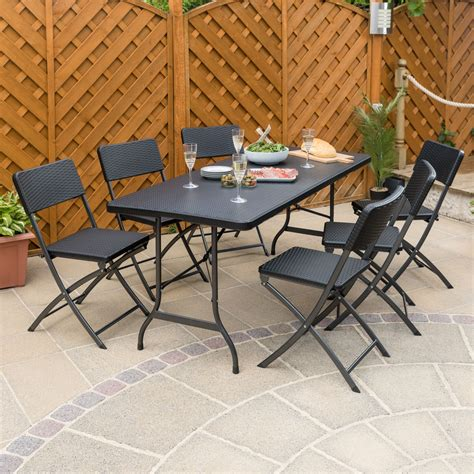 Folding Dining Table And Chairs Camping